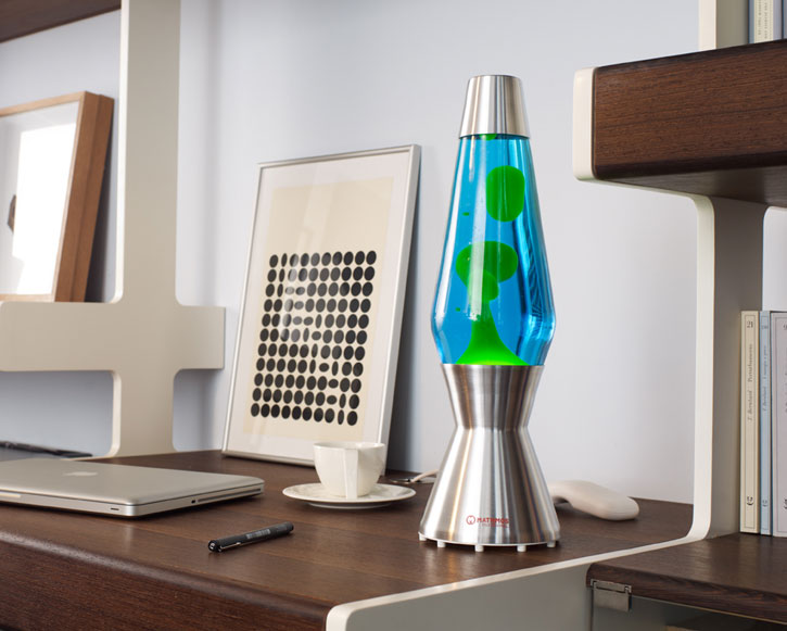 Лава лампа Астро (хром) Синий/Зеленый