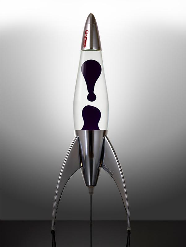 Лава лампа «Телстар» (хром) Прозрачный/Черный