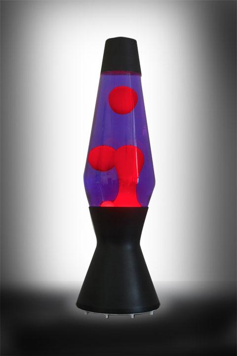 Лава лампа Астро (чёрная) Фиолетовый-Красный