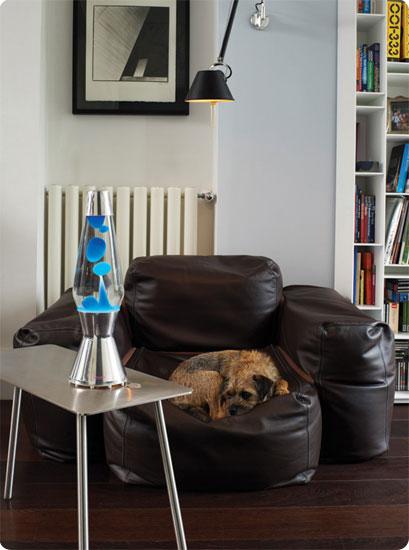 Лава лампа «Смарт Астро» (хром) Синий-Красный