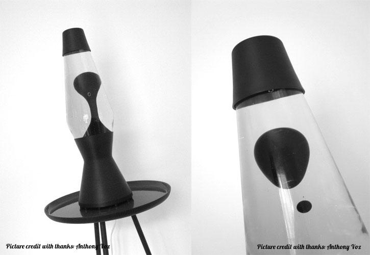 Лава лампа «Астро» (черная) Прозрачный/Черный