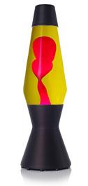 Лава лампа «Астро» (черная) Желтый/Красный