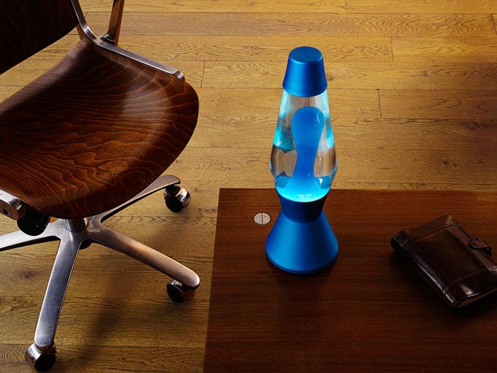 Лава лампа «Астро» (синяя) Прозрачный-Бирюзовый